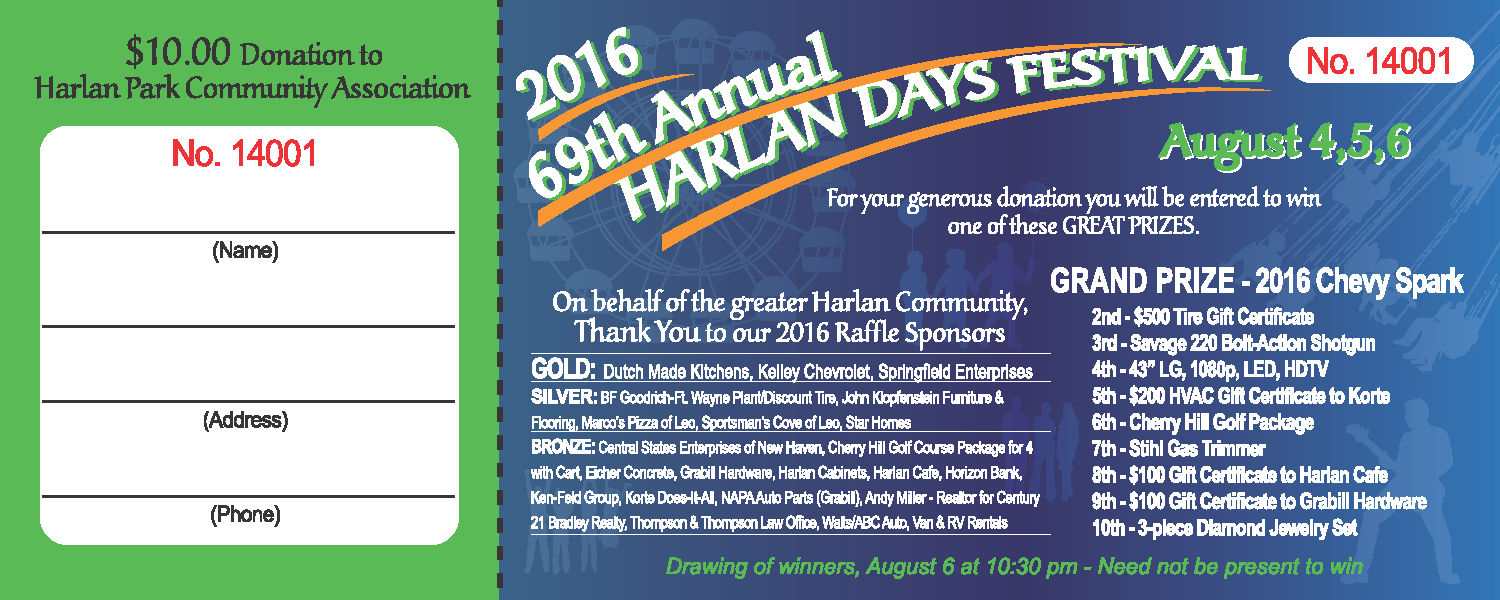 Information About The Harlan Days Raffle Harlan Days