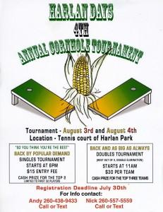 4th Annual Harlan Days Cornhole Tournament