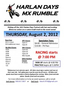 Harlan Days 2012 MX Rumble - Motocross Race