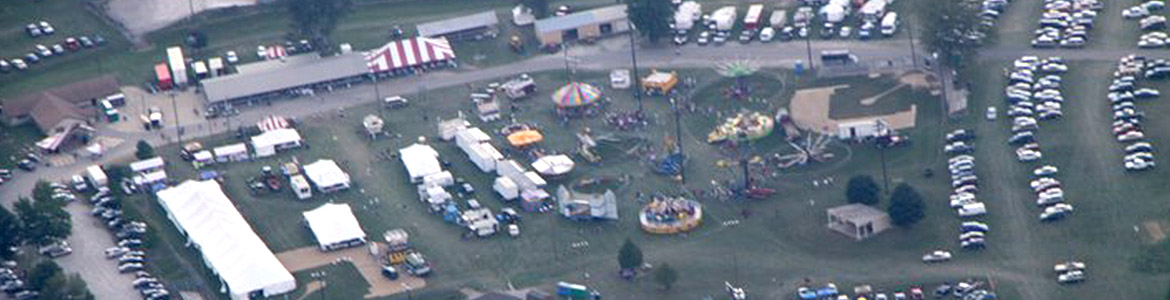 Arial view of the Harlan Days Fair