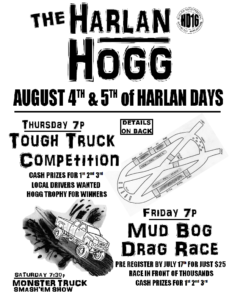 The Harlan Hogg flyer