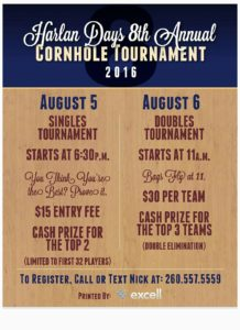 8th Annual Cornhole Tournament Flyer