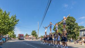 Woodlan Warriors Cheerleaders in the 2017 Parade