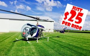 Helicopter rides $25 at Harlan Days